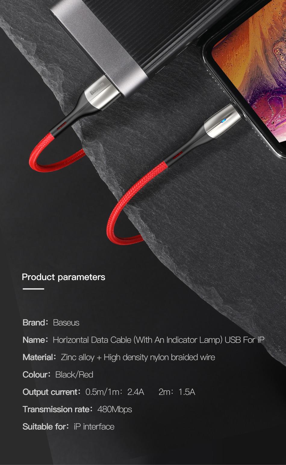 buy baseus zn-alloy design cable
