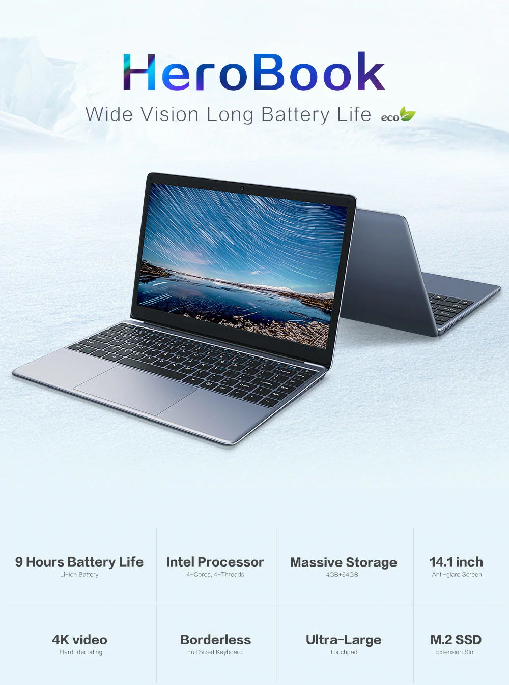 chuwi hero book laptop