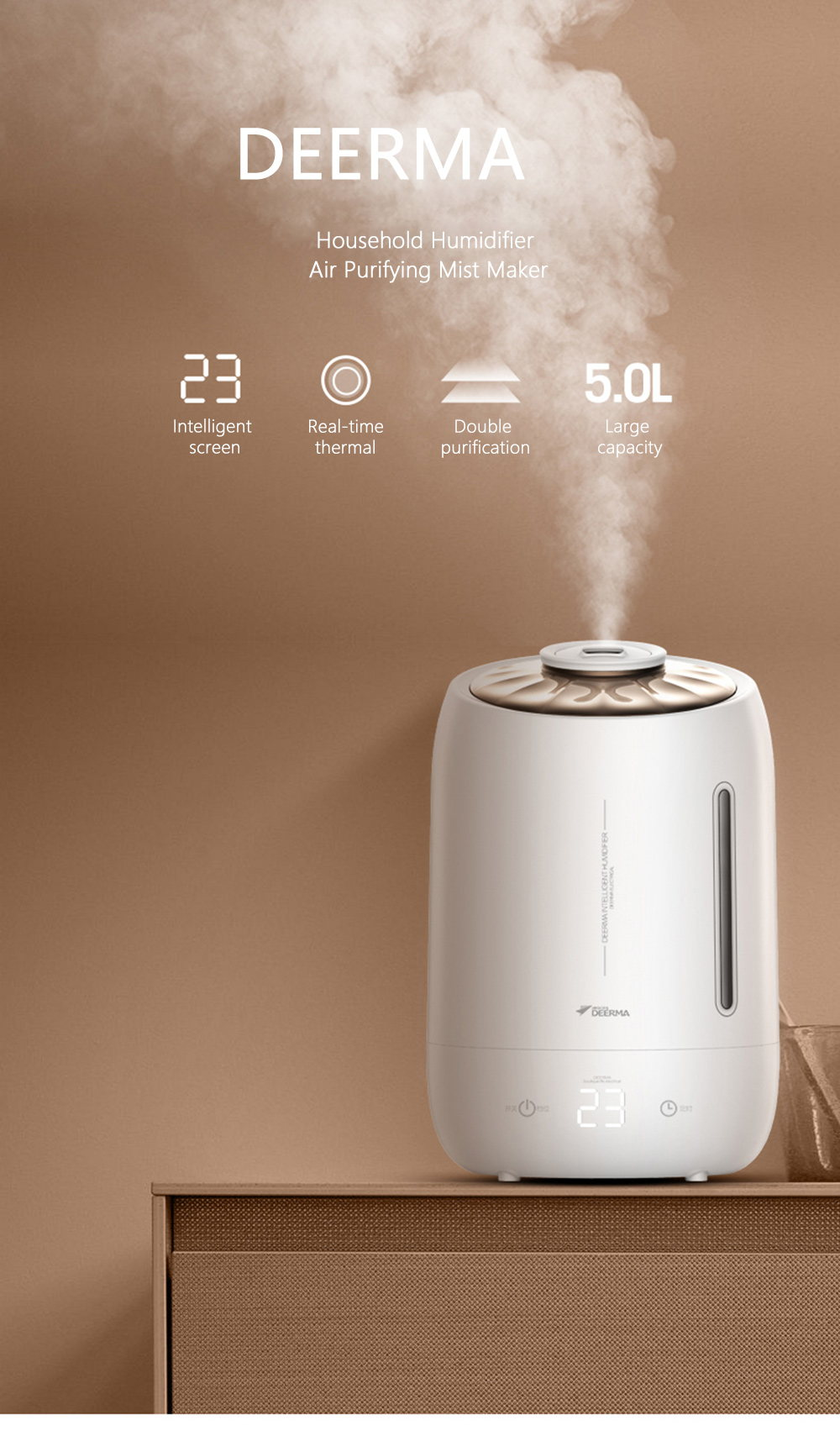 deerma dem-f600 household air humidifier