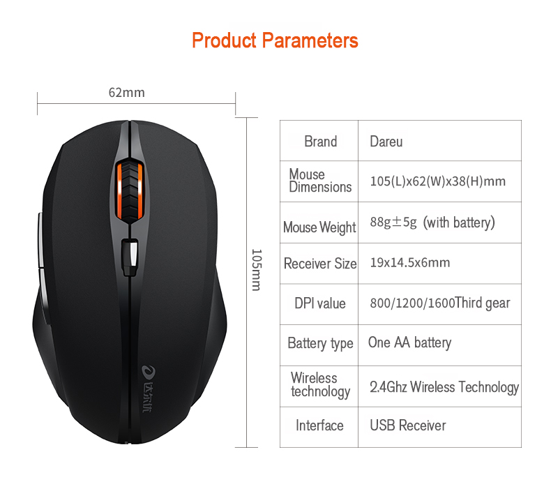 best dareu lm116g mouse