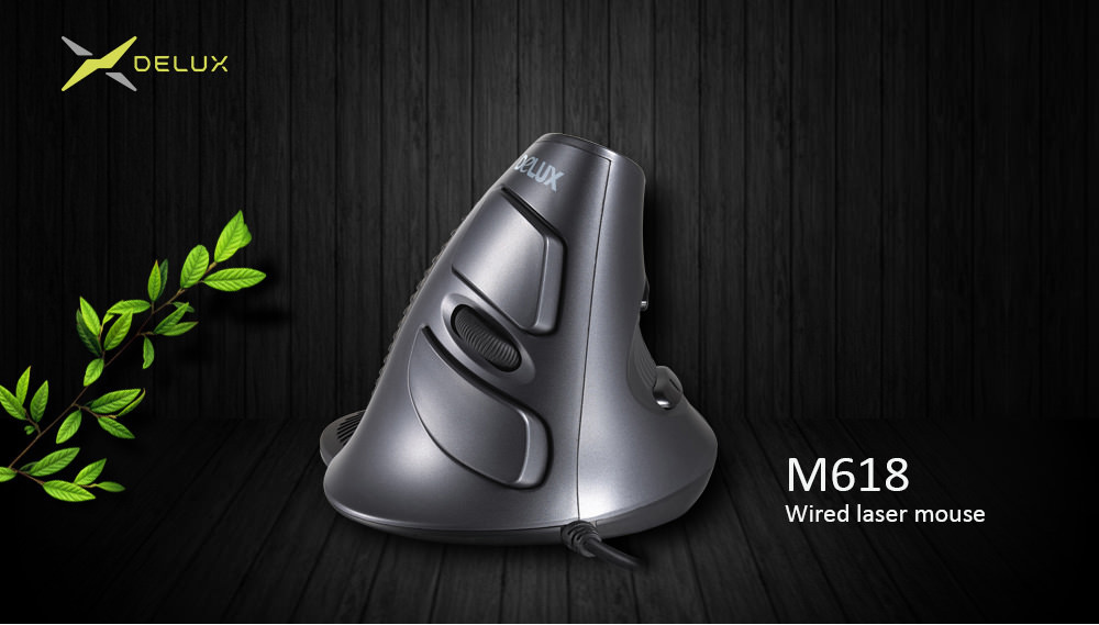 delux m618lu vertical wired mouse