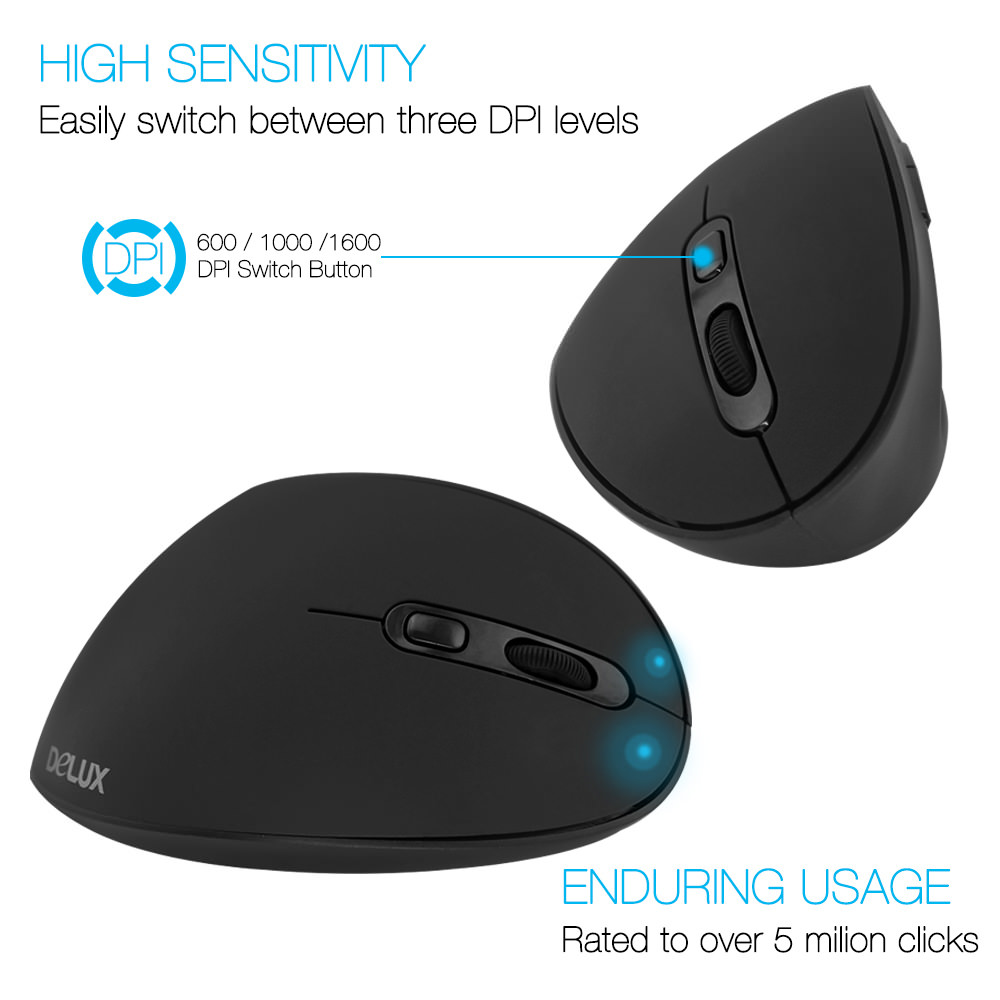 buy delux m618se vertical mouse