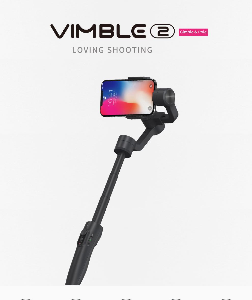 Estabilizador de cardán Feiyu Vimble 2 le permite amar disparar FEIYU-Vimble-2-Handheld-Gimbal-Stabilizer-1