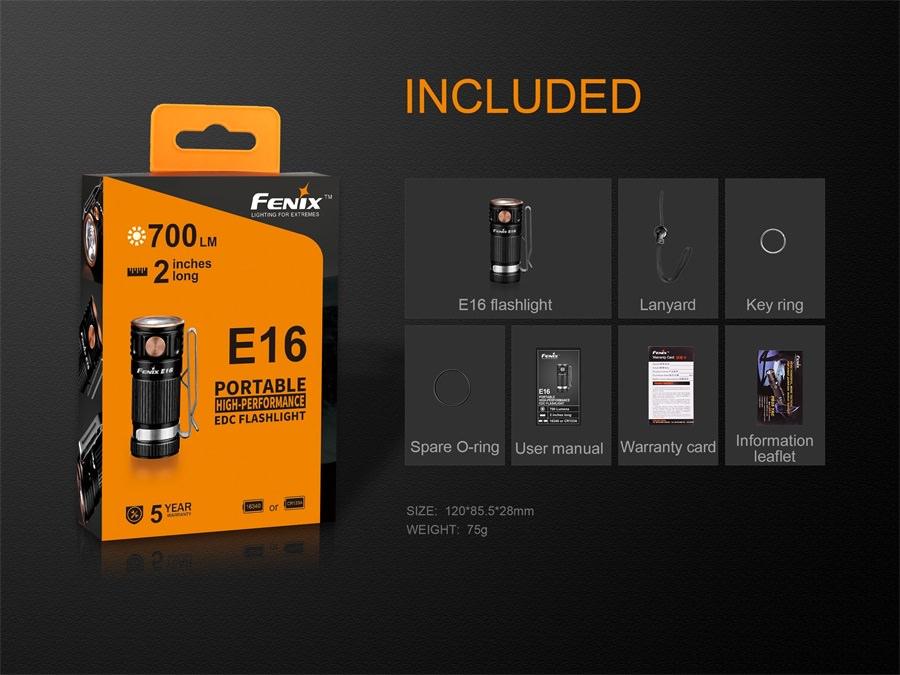 buy fenix e16 led flashlight