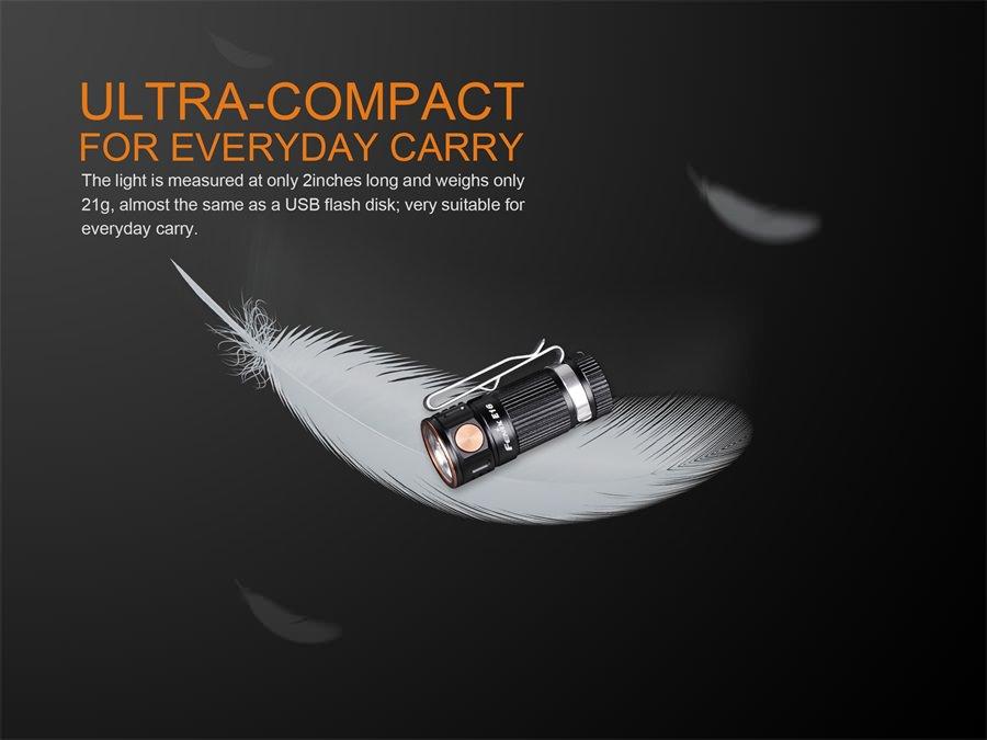 fenix e16 mini flashlight