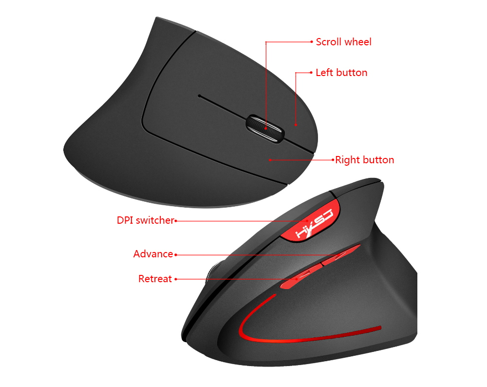 hxsj t22 vertical mouse