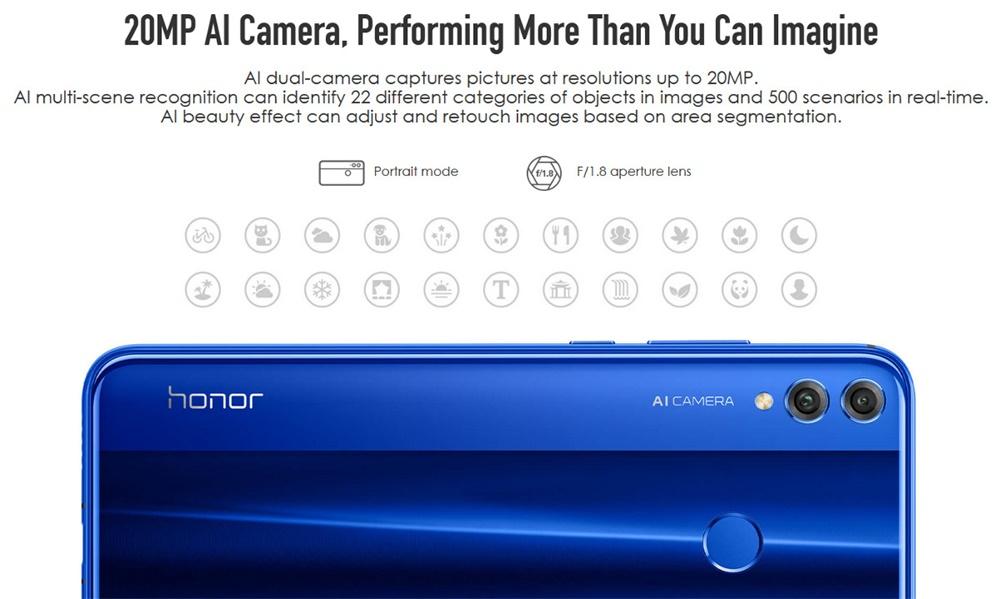 honor 8x 4g smartphone