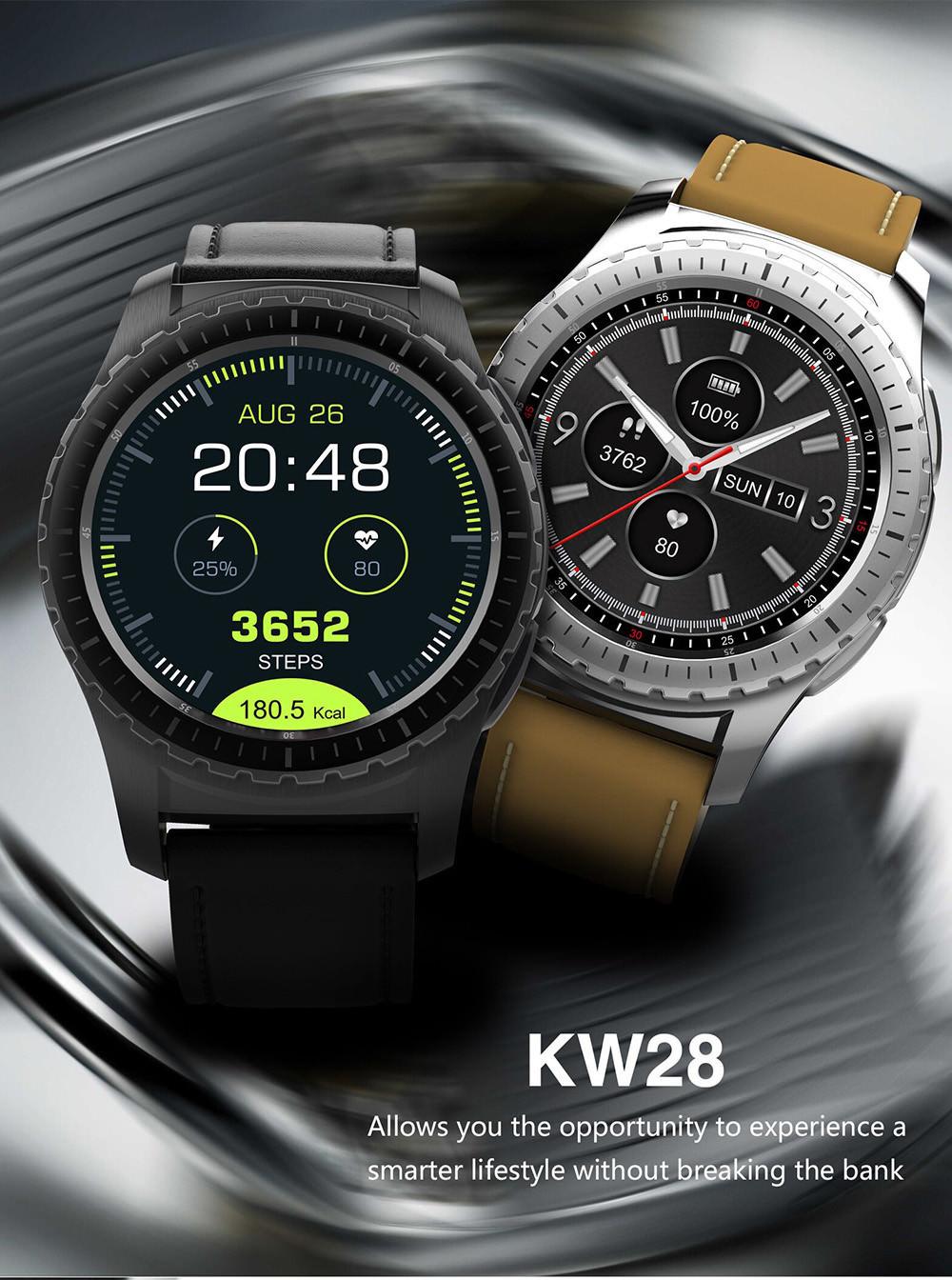 kingwear kw28 smartwatch phone