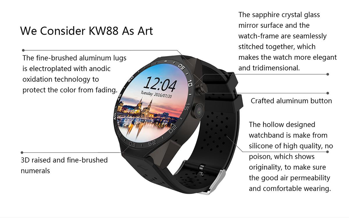 buy kingwear kw88 smartwatch phone