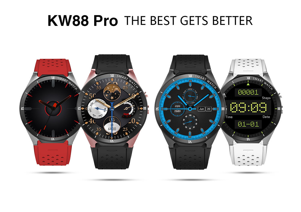 kingwear kw88 pro 3g smartwatch phone