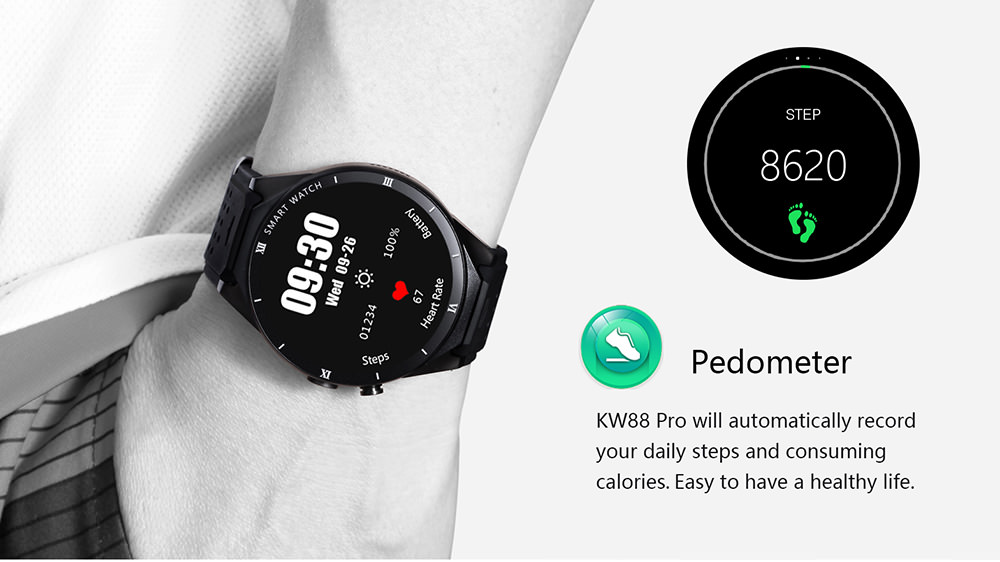 KingWear KW88 Pro 3G Smartwatch Phone 1GB RAM 16GB ROM