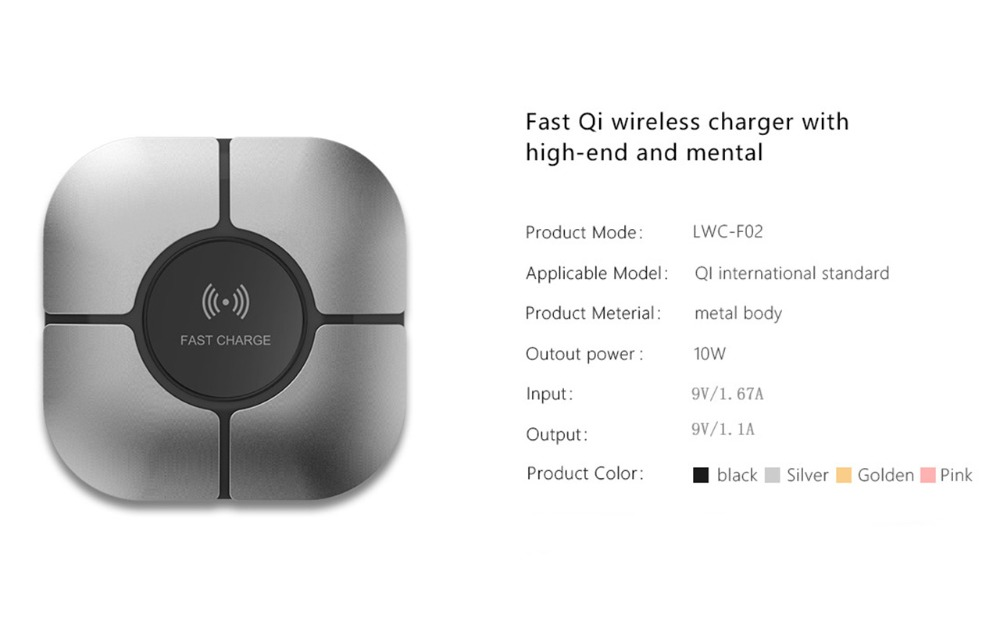 lemfo f02 10w wireless charger