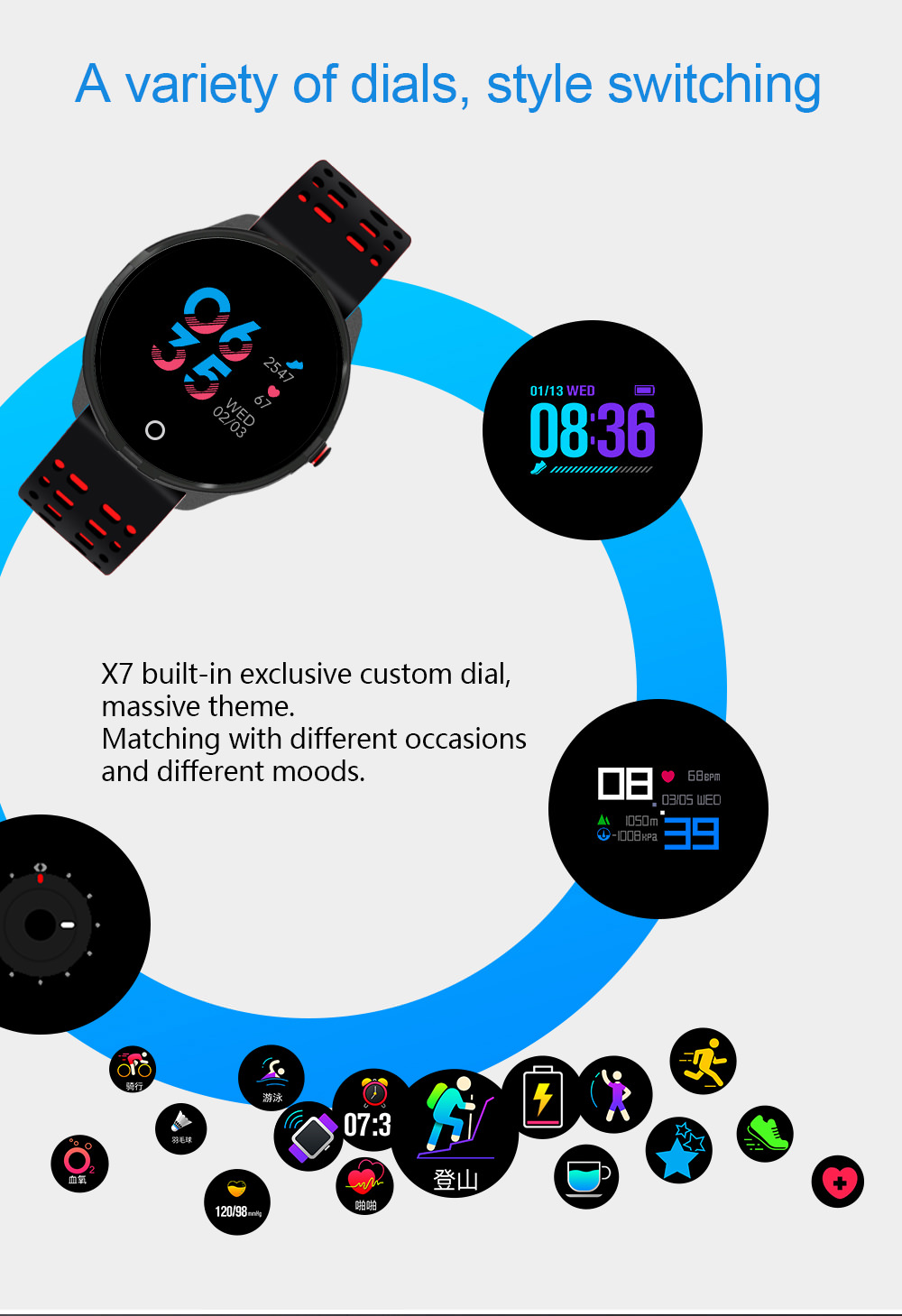 cheap lemfo x7 smartwatch