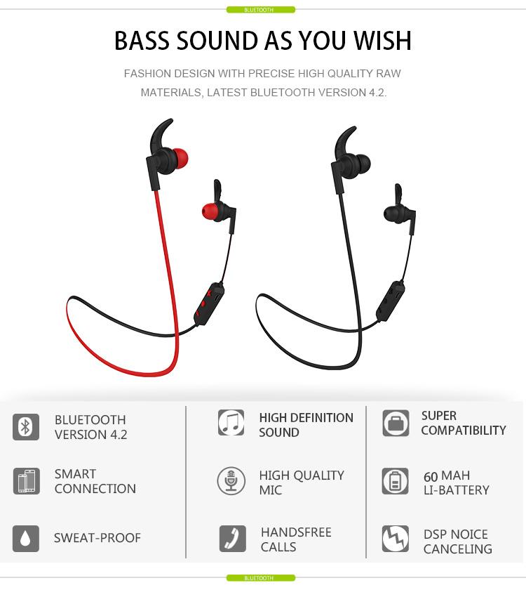 langsdom bs85 wireless sports earphone