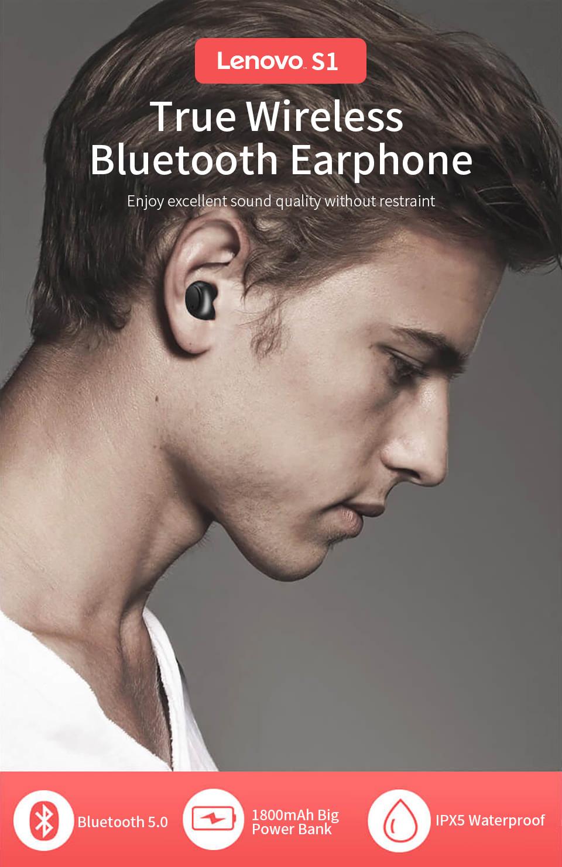 lenovo s1 tws bluetooth earphone