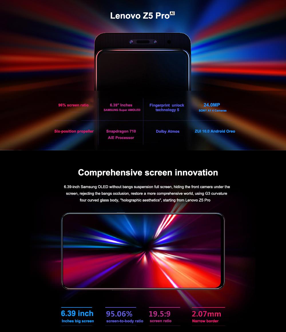 lenovo z5 pro 4g smartphone