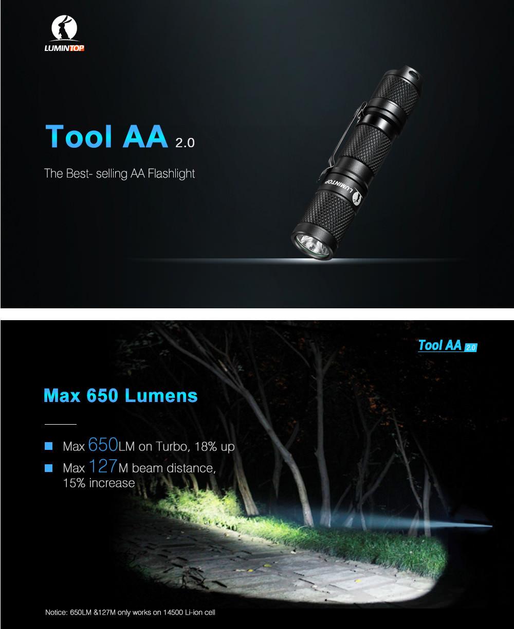 lumintop tool aa 2.0 led flashlight