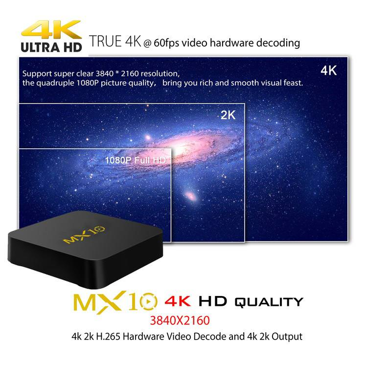 mx10 smart android tv box