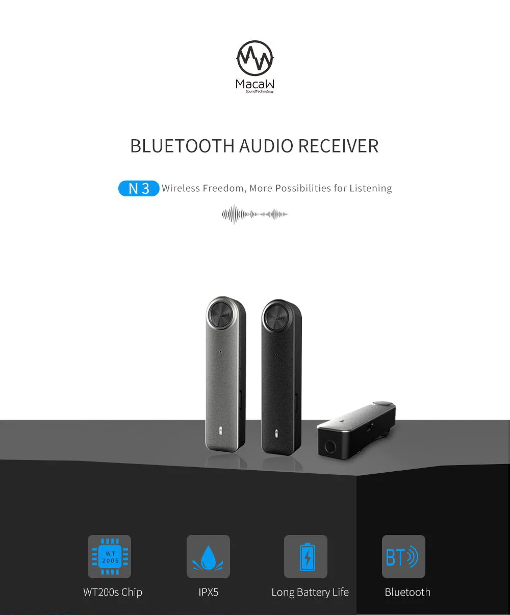macaw n3 bluetooth receiver