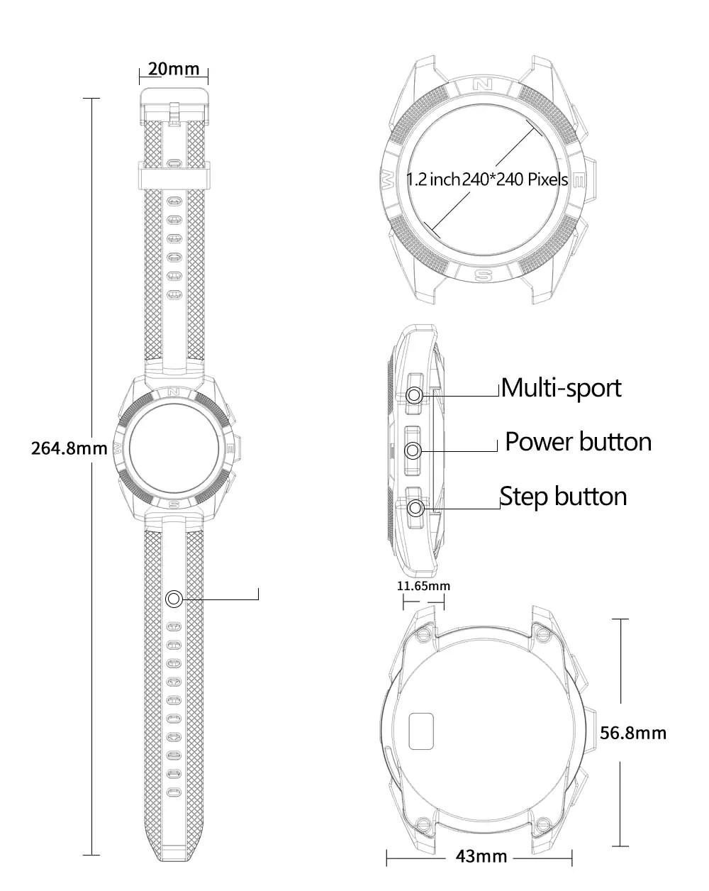 2018 microwear sports smartwatch