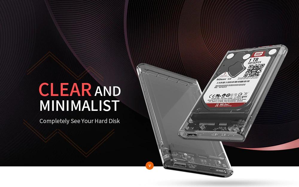 orico 2.5 inch hard drive enclosure