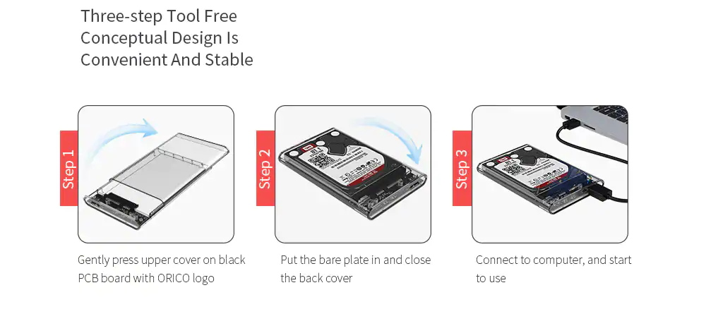 orico hard drive enclosure price