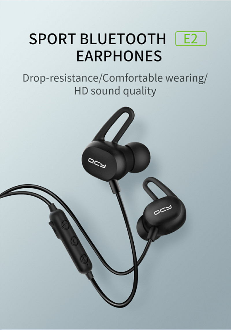 qcy e2 bluetooth earphones