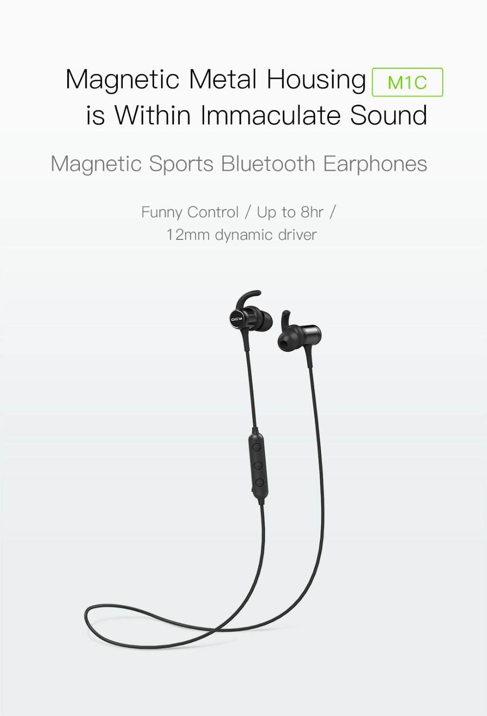 qcy m1c bluetooth earphones
