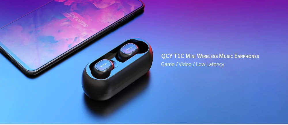 qcy t1c mini bluetooth earphones