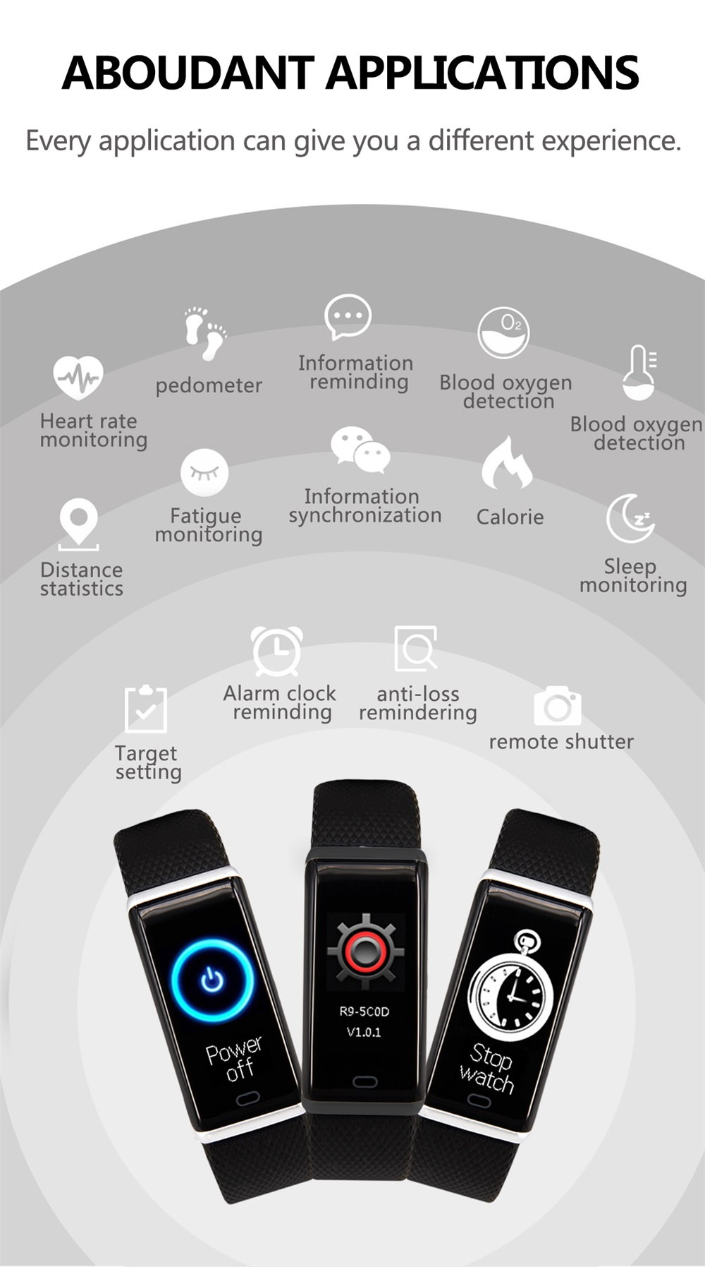 r9 smart bracelet heart rate monitor sale