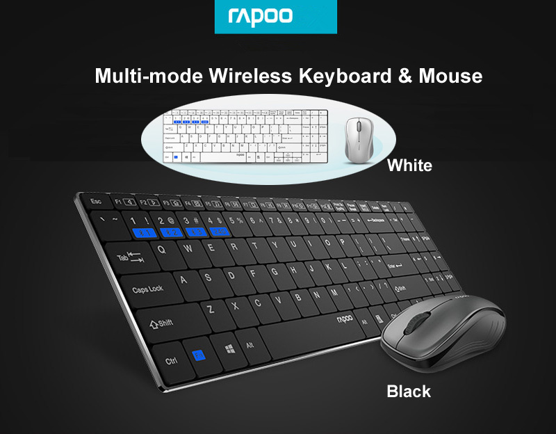 rapoo 9060m wireless keyboard mouse combos