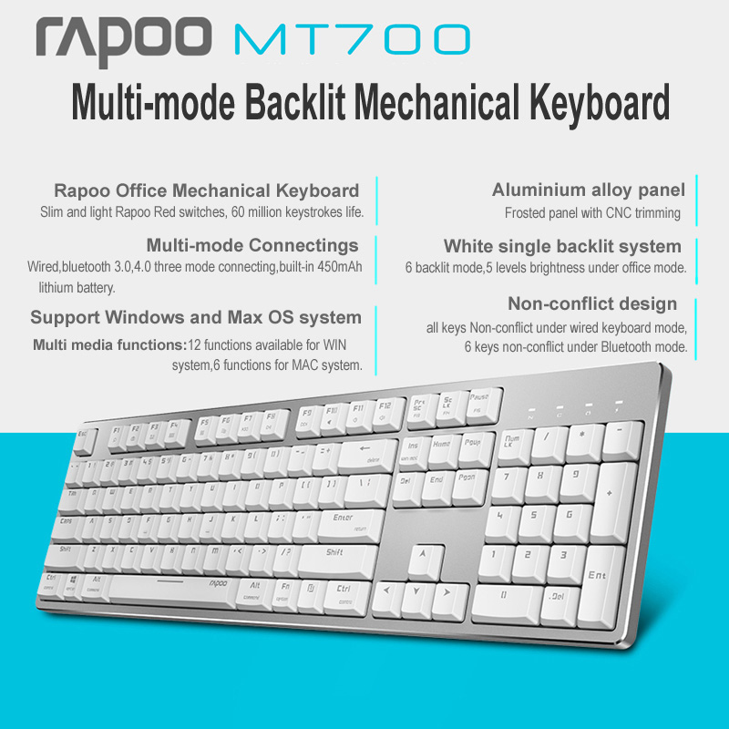 rapoo mt700 mechanical keyboard