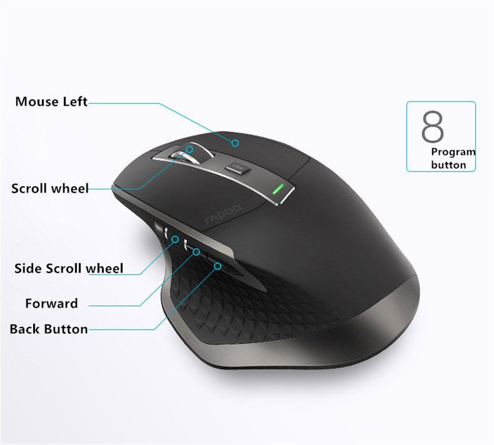 rapoo mt750 multi-mode wireless mouse