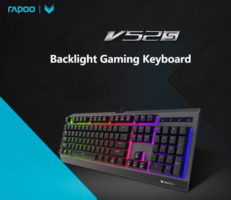 rapoo v52s backlight gaming keyboard