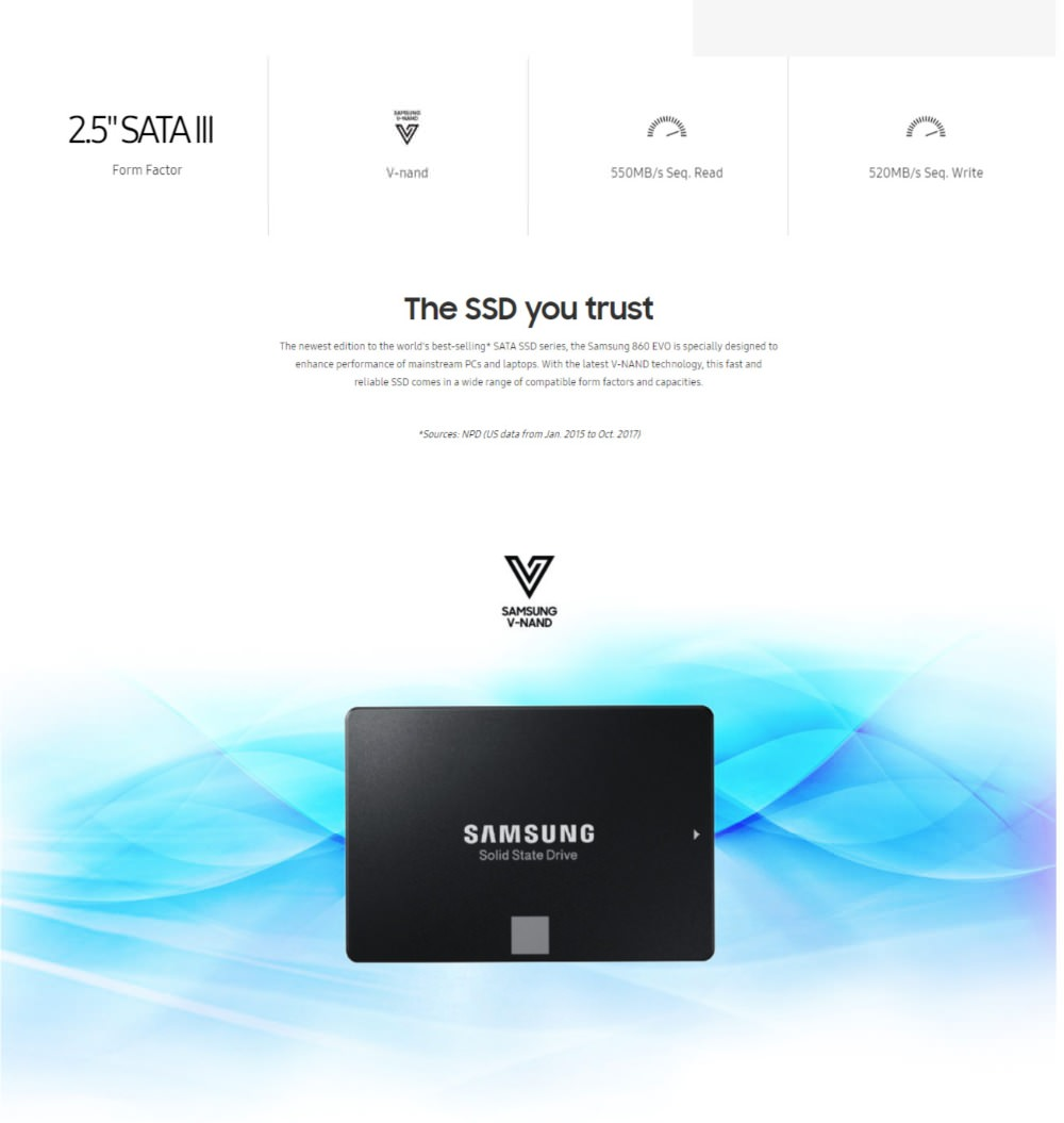 samsung ssd 860 evo solid state disk