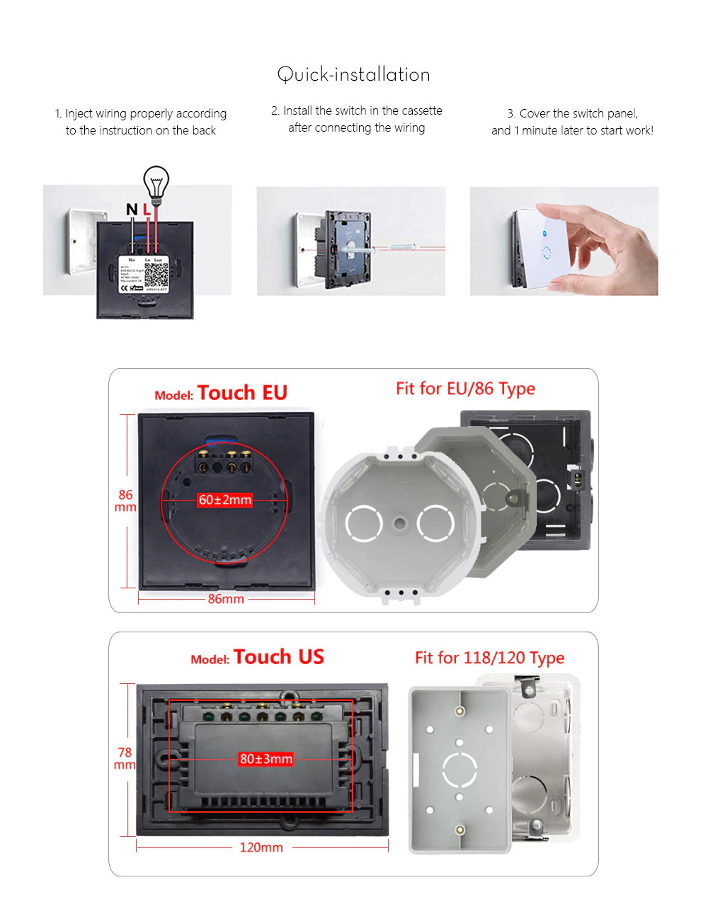 sonoff touch smart wall switch