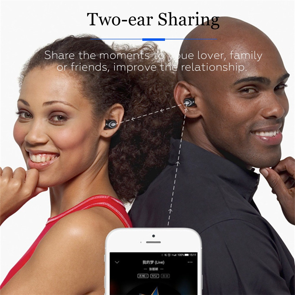 buy x18 tws wireless bluetooth earphones