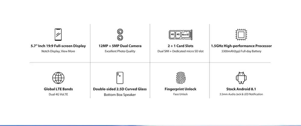 umidigi a3 pro smartphone 16gb