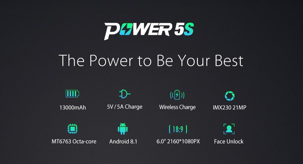 ulefone power 5s 4g smartphone