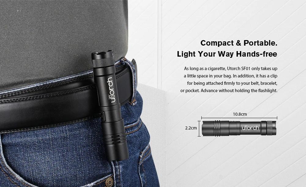 utorch sf01 portable flashlight