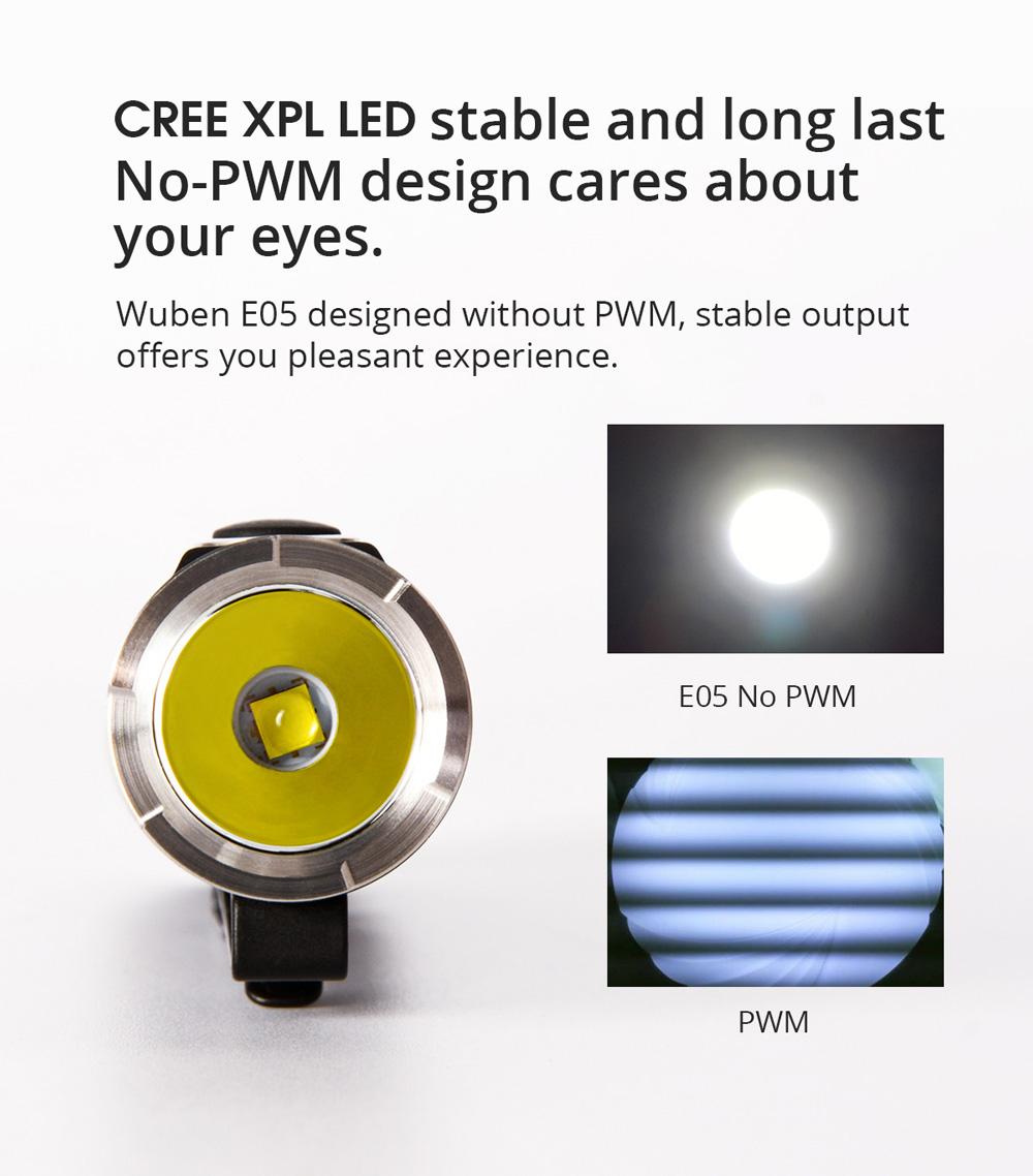 wuben e05 mini flashlight