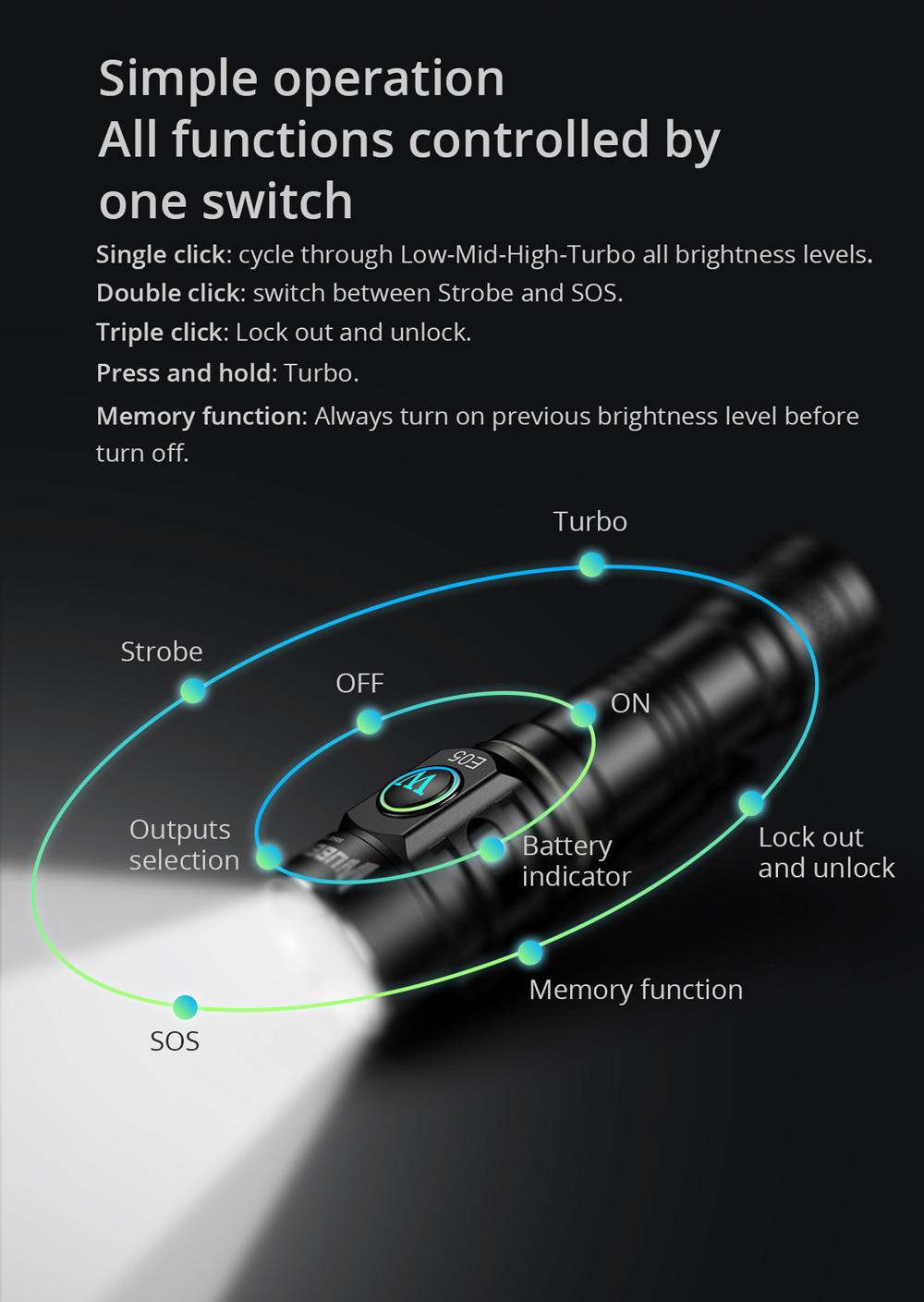 wuben e05 flashlight online