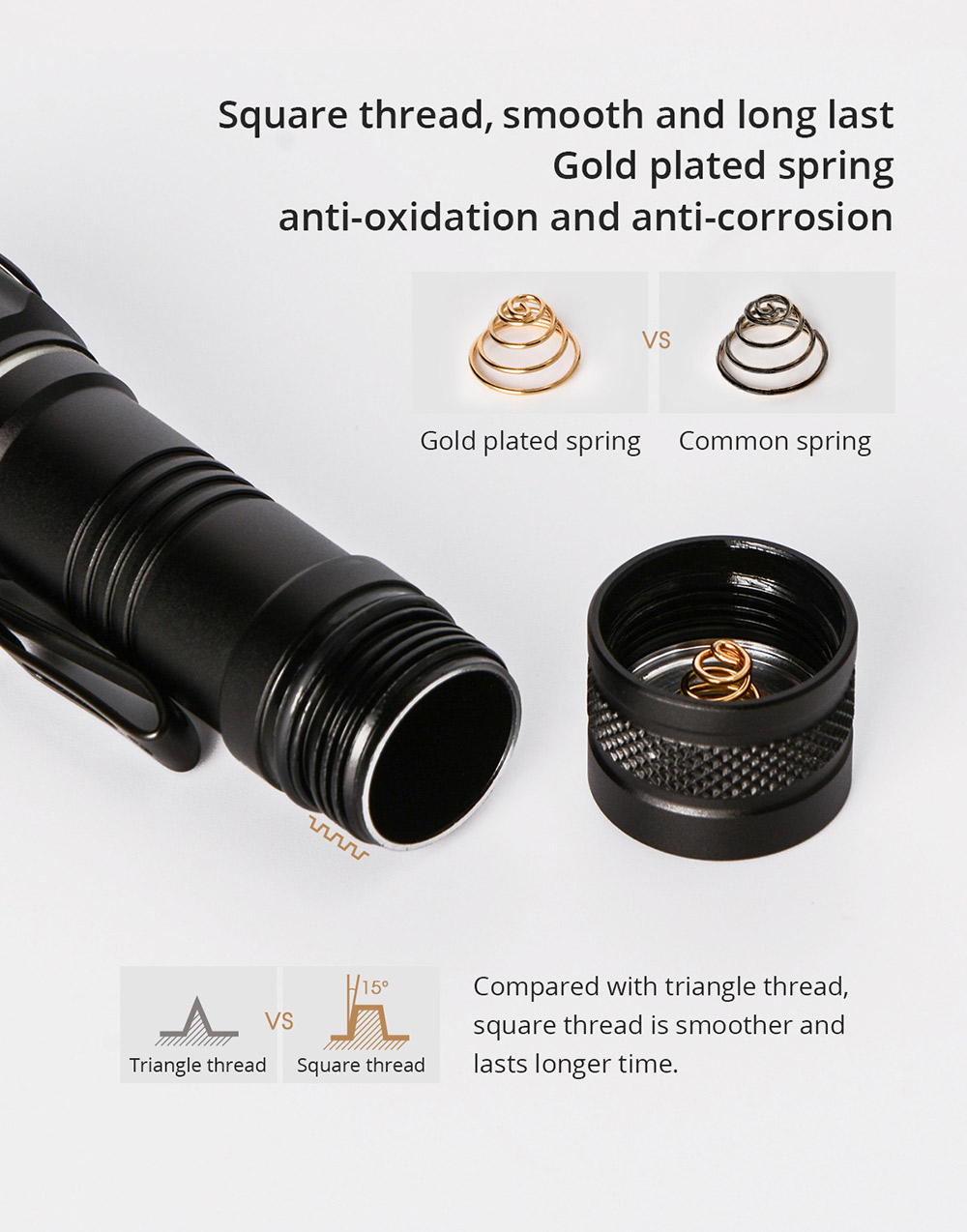 wuben e05 flashlight price