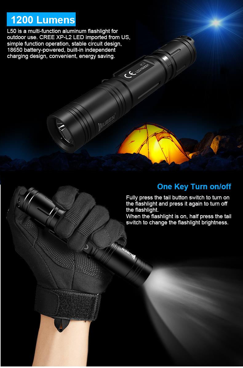 wuben l50 flashlight