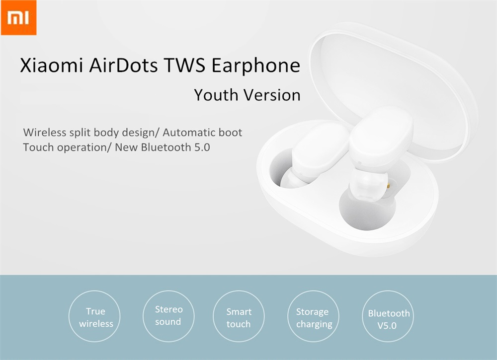 xiaomi airdots tws bluetooth earphone