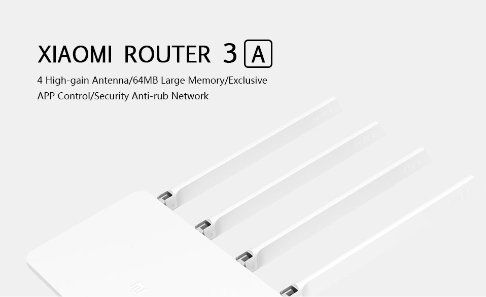 Xiaomi router 3A - 4 antenas de alta ganancia, control de APP, red de anti roce Xiaomi-Mi-3A-Wireless-Router-1