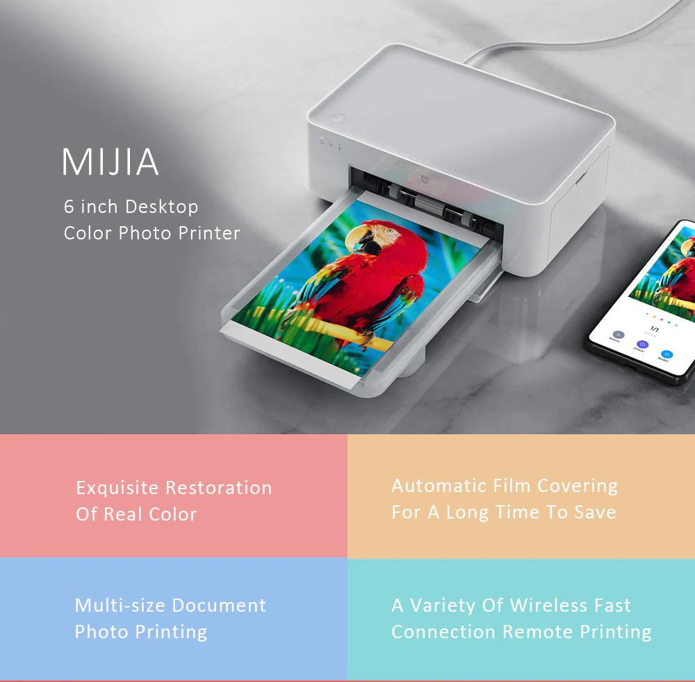 xiaomi mijia desktop color photo printer