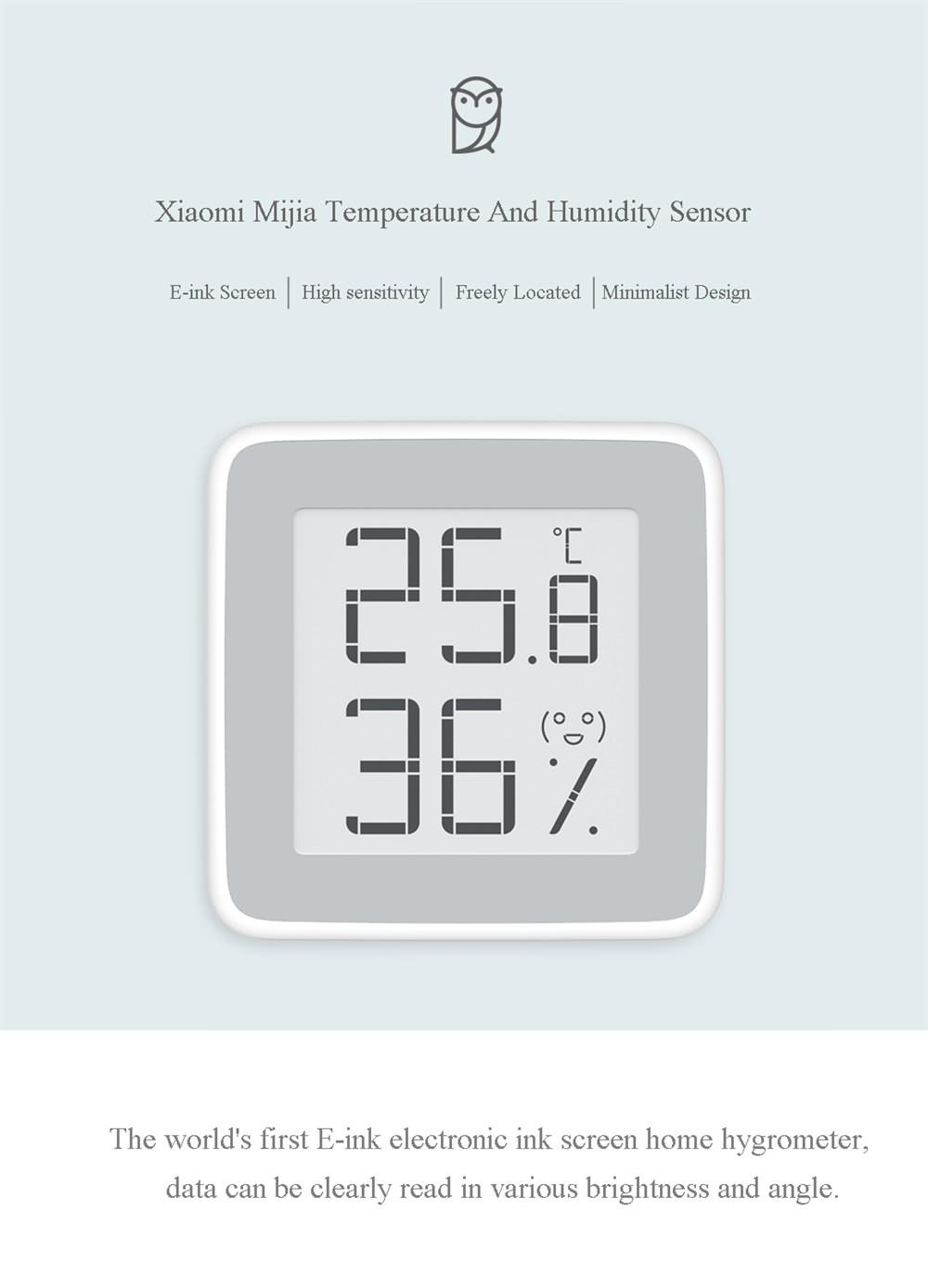 xiaomi mijia temperature humidity sensor
