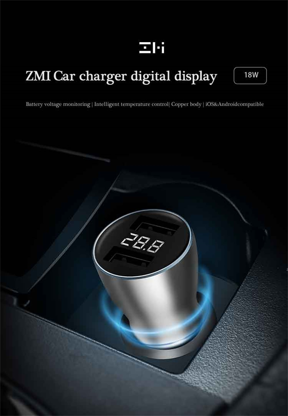xiaomi zmi car charger online