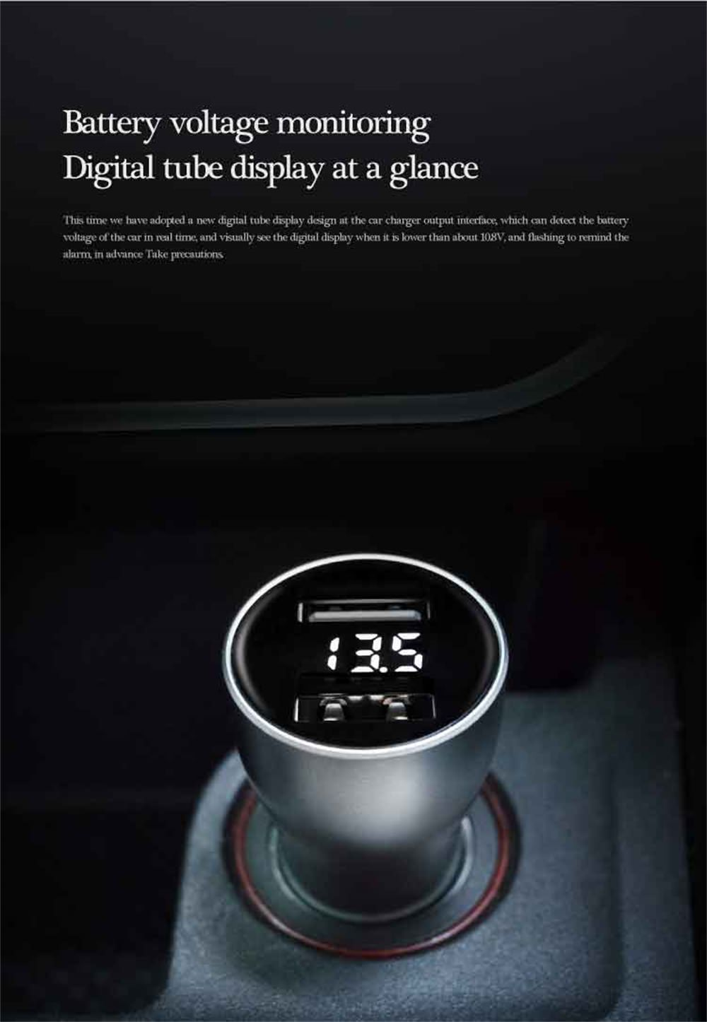 zmi car charger digital display